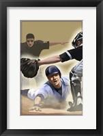 Vintage Baseball II Framed Print