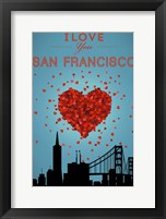 I Love San Francisco Framed Print