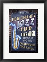 Framed New Orleans Jazz