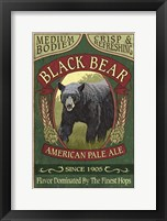 Black Bear Pale Ale Framed Print