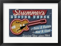 Framed Strummer's Guitar Shack