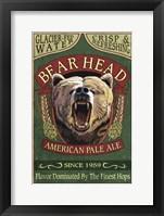 Bear Head Pale Ale Framed Print