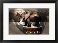 Elephant Dancer Framed Print