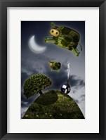 Over the Moon Framed Print