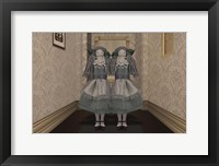 Framed Twins in the Hallway