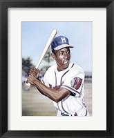Framed Hank Aaron on Deck