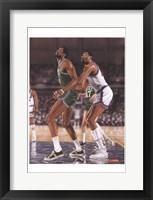 Framed Wilt Chamberlin and Bill Russell
