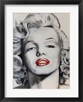 Pin up Marilyn Framed Print