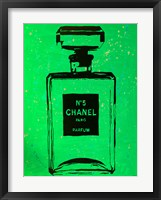 Framed Chanel Pop Art Green Chic