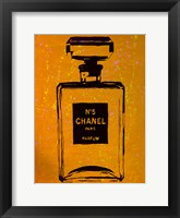Chanel Pop Art Orange Chic Framed Print