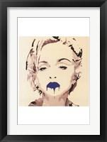 Framed Madonna Pop Art Blue Lips