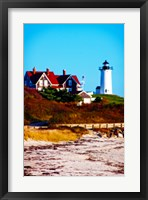 Nobska Lighthouse Portrait Framed Print
