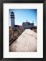 Highland Lighthouse Cape Cod MA Portrait Framed Print