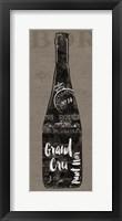 Linen Wine I Framed Print