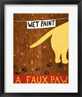 Framed Faux Paw Yellow