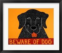 Framed Beware of Dog Black