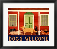 Framed Dogs Welcome HSH II