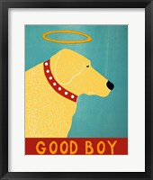 Good Boy Yellow Framed Print