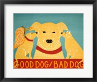 Framed Good Dog Bad Dog Yellow