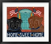 Framed Home Sweet Home Black Choc
