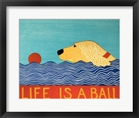 Life Is A Ball Gold Golden Framed Print