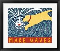 Framed Make Waves Yellow Wbanner