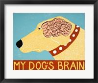 Framed My Dogs Brain Yellow