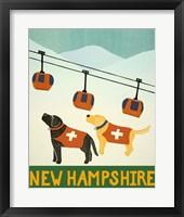 Framed New Hampshire Ski Patrol
