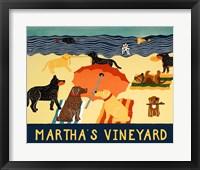 Framed Ocean Ave Martha's Vineyard