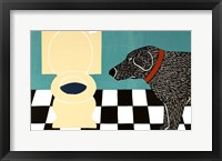 Water Bowl Bad Dog Framed Print