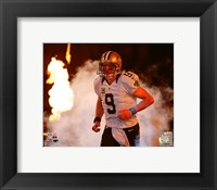 Framed Drew Brees 2015 Action