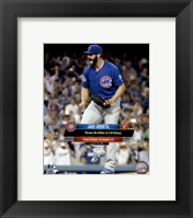 Framed Jake Arrieta throws a No-Hitter August 30, 2015