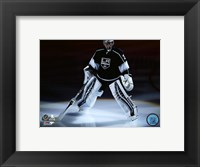 Framed Jonathan Quick 2015-16 Action
