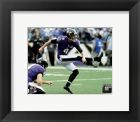 Framed Justin Tucker 2015 Action