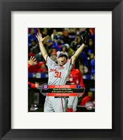 Framed Max Scherzer celebrates his 2nd No-Hitter of the season- October 3, 2015