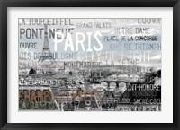 Framed City Of Light Gray