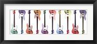 Framed Pop Art Guitar