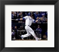 Framed Alex Gordon Home Run Game 1 of the 2015 World Series