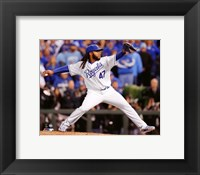 Framed Johnny Cueto Game 2 of the 2015 World Series