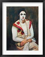 Framed Clown With Black Wig