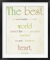 The Heart Framed Print