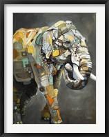 Framed Asian Elephant