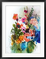 Flowers and Insects One Framed Print