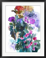 Flowers and Insects Two Framed Print