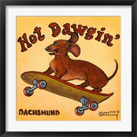 Hot Dowgin' Framed Print