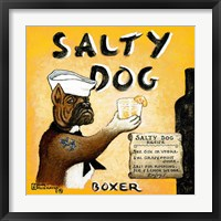 Framed Salty Dog