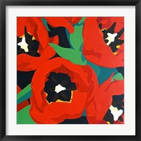 Framed Red Tulips
