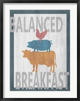 Balanced Breakfast One Framed Print