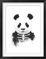 Zombie Panda Framed Print
