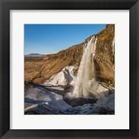 Framed Seljalandsfoss Waterfall in the Winter, Iceland